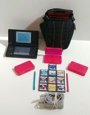 Nintendo DSi Console System Black Handheld with 10 Games,Charger and Bag