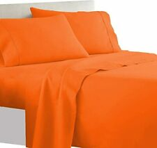 Buttoned All Size AU { Duvet Sets } 1000 TC 100% Cotton Orange  Solid