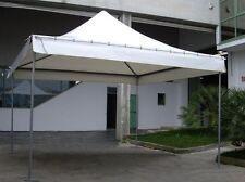 Tenda gazebo pagoda 4x4 m certificato per uso pubblico pvc da 650 gr classe 2