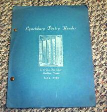 %SSALE LYNCHBURG VA. POETRY READER JUNE 1955 RUTH H. BLUNT 3B ENGLISH  CLASSES