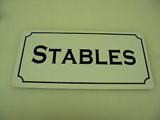 Stables Metal Sign 4 Horse Farm Ranch Barn Country Club Track Hay Saddel shoe