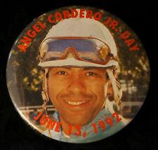 HORSE RACING PIN Angel Cordero Jr. Day Jockey Vintage Round Photo Photograph