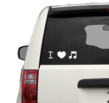 I love music sticker, heart + note vinyl decal