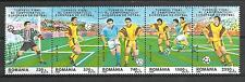 Football Roumanie (29) série complète 5 timbres oblitérés