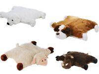 Kuschelkissen Schaf Hund Eisbär Schwein Kuscheltier 55cm Plüschtier Nackenrolle