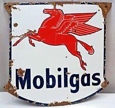 VINTAGE MOBILE GAS PETROL PUMP PLATE OLD PORCELAIN ENAMEL SIGN RARE COLLECTIBLES