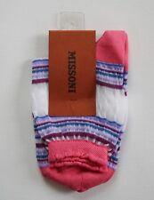 $40 MISSONI ORANGE LBL Multi-Colored Cotton Blend Short Ankle Socks M