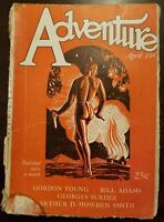 Vintage ADVENTURE pulp magazine April 15th 1927 advertising stories ship sea B-3