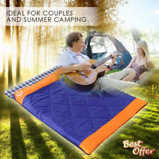 Double Outdoor Camping Envelope Sleeping Bag Thermal Tent Hiking