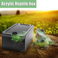 Reptile Insect Spider Acrylic Breeding Box Reptiles Vivarium with Lid 23x15x12cm