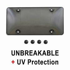 TINTED PLASTIC LICENSE PLATE SHIELD cover tag protector smoke black frame ni1
