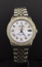 Rolex Datejust 31mm Steel Jubilee Custom Diamond Bezel & MOP Dial Ref 68240