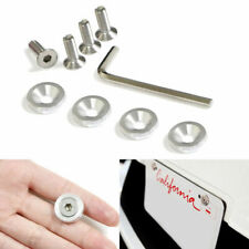 (4) JDM Racing Style Silver Aluminum Washers Bolts Kit For Car Fender Bumper etc