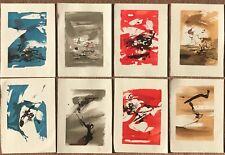 Zao wou ki- Lot de 8 estampes gravées par l'Imprimerie du Compagnonnage Paris