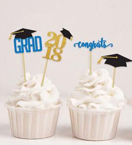 Darling Souvenir  Graduation Cap Theme Party Cupcake Toppers   Dessert-ClR