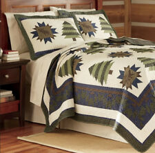 Calico Forest Multi Color Quilt Bedding Cover Set by Field & Stream - Twin Size