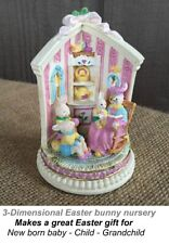 3-Dimensional Spring Easter figurine bunny nursery Mother Bunny reading 1996