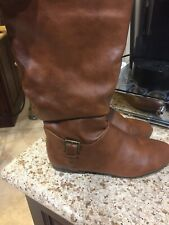 Bamboo Womens Boots Size 8 Brown