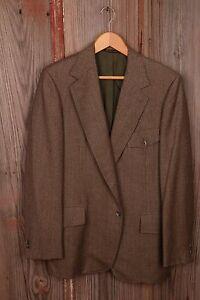 Hart Schaffner & Marx 42L Brown Blazer Sport Coat Jacket Men's Dress Button
