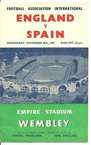 1955 England v Spain [Friendly]