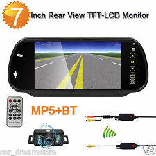 "7"" Car Monitor Rear View Mirror with Bluetooth Mp5 + Car Parking Reverse Camera"
