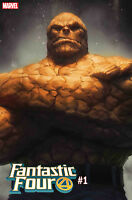 FANTASTIC FOUR #1 ARTGERM THE THING VARIANT MARVEL COMICS 2018