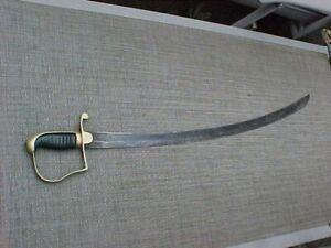 ORIGINAL 1800s  US ? EUROPEAN ? ARTILLERY SWORD / SABER