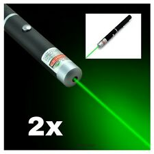 2x lot Military green laser Astronomy Puntero Laser  532nm Focus Pointer Pen