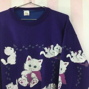 Women's Vintage Sweatshirt with cat design