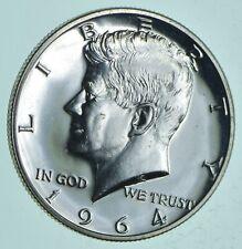 PROOF - 1964 Kennedy Half Dollar 90% Silver - Stunning Mirrors *082