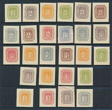 Hamburg 1866 (26) MOSTLY DIFFERENT ENVELOPE CUT SQUARES/REPRINTS OR FAKES?