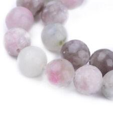"""5 Cordão Lilás Natural Jade Pérola Redonda 8mm 16"""" Joias Pedra Preciosa Solto Artesanato Faça Você Mesmo"""
