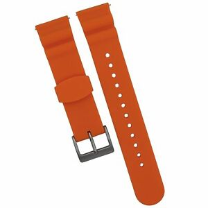 22MM SPORT SILICONE REPLACEMENT WATCH BAND - QUICK RELEASE - Divers Style