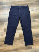 J. CREW The Sutton  Dark Navy Blue Straight Khakis Mens Size 34x30