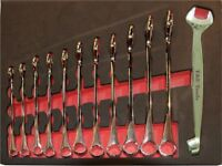SAE Dolphin Combination Wrench SPANNER SET 11 Pc T&E tools 13107 Imperial