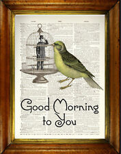 """Vintage Dictionary Print: """"Good Morning to You"""" -  Unique, Surreal Motivation"""