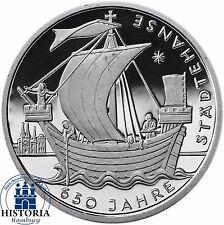 Germania 10 euro 650 anni città anseatica ARGENTO 2006-COMMEMORATIVA-moneta speculari