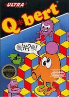 Q-Bert Nintendo Nes Cleaned & Tested Cart Only Authentic