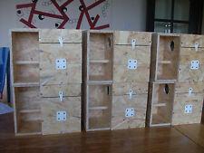 6 X LOVEBIRD NEST BOX WITH PORCH / CRECHE FOR BREEDING - AVIARY CAGE LOVE BIRD
