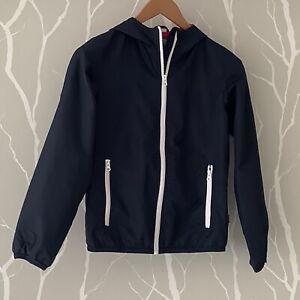 Benetton - Boy 10-11 years, Showerproof Shell Jacket, Navy Blue/RedWhite Mix