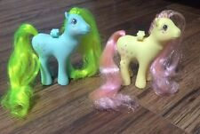 Lot Of 2 VINTAGE MY LITTLE PONY 1986 MLP Rosedust & Morning Glory Flutter Wings