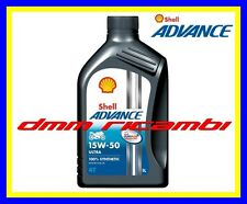 5 Litri Olio Motore 4 tempi SHELL ADVANCE ULTRA4 PUREPLUS 15W50 Sintetico SM MA2