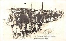 RPPC WWI MILITARY HUN PRISONERS CARRYING WOUNDED CANADIAN REAL PHOTO POSTCARD