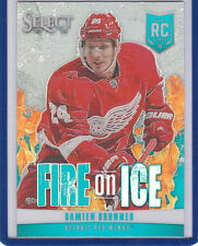 Damien Brunner 2013 14 Panini Select Fire On Ice Refractor /25  Red Wings Devils