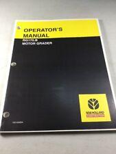 New Holland RG170.B Motor Grader Operators Manual