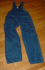 VINTAGE OshKosh B'Gosh Vestbak BIB OVERALLS Jeans Mens 36 X 31 BLUE Denim USA