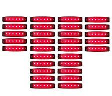 30x 24v rot 6 LED leuchte E9 Begrenzungsleuchte LKW Positionsleuchte