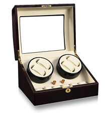 Case Wood Display Box Japan Motor Double Automatic Rotation 4+6 Watch Winder