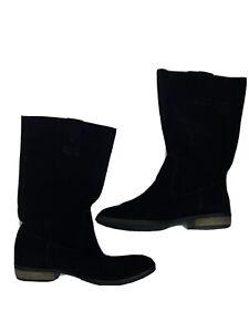 steve madden neece black suede floppy boots Size 9