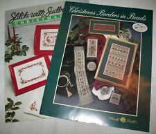 2 Cross Stitch~ Mill Hill CHRISTMAS BORDERS IN BEADS & Sudberry House CHRISTMAS
